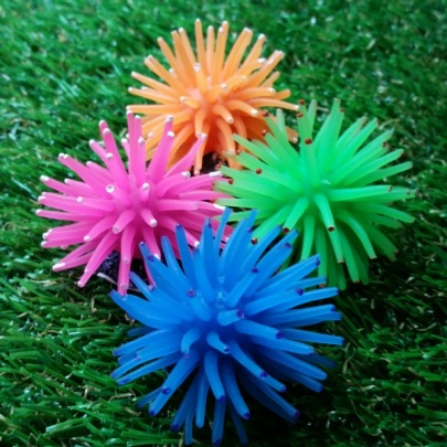 Rubber Hair Ball Green Bundle