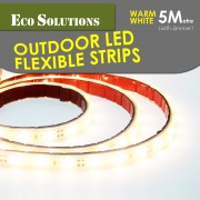 ECO SOLUTIONS Outdoor Led Flexible Strip 5M WARM WHITE